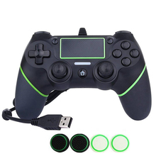 3 Color PS4 USB Wired Game Controller for Sony PS4 Playstation 4 Dualshock 4 Joystick Gamepads with 1.8M Cable and 8pcs Silicone