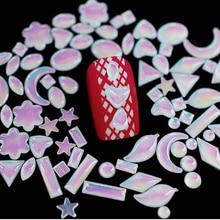 100 pieces White AB Flat Back pearl jewelry 3d glitter decorations Elegant Nail Art Jewelry accessories tools