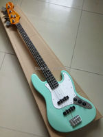 Heißer Verkauf Custom shop jazz bass gitarre mahagoni korpus ahorn neck wilkinson wachs pickups hochwertige Pfingstrose grüne farbe in lager