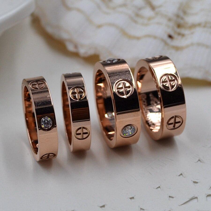 Vintage Marke Titan Fingerring Kristall Ring Nagel Ring Fur Frauen
