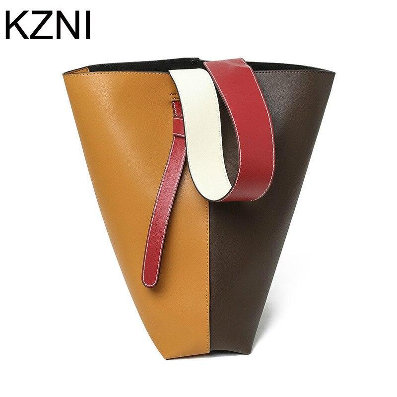 KZNI female genuine leather bags luxury handbags women bags designer good quality women messenger bags bolsas femininas L112931
