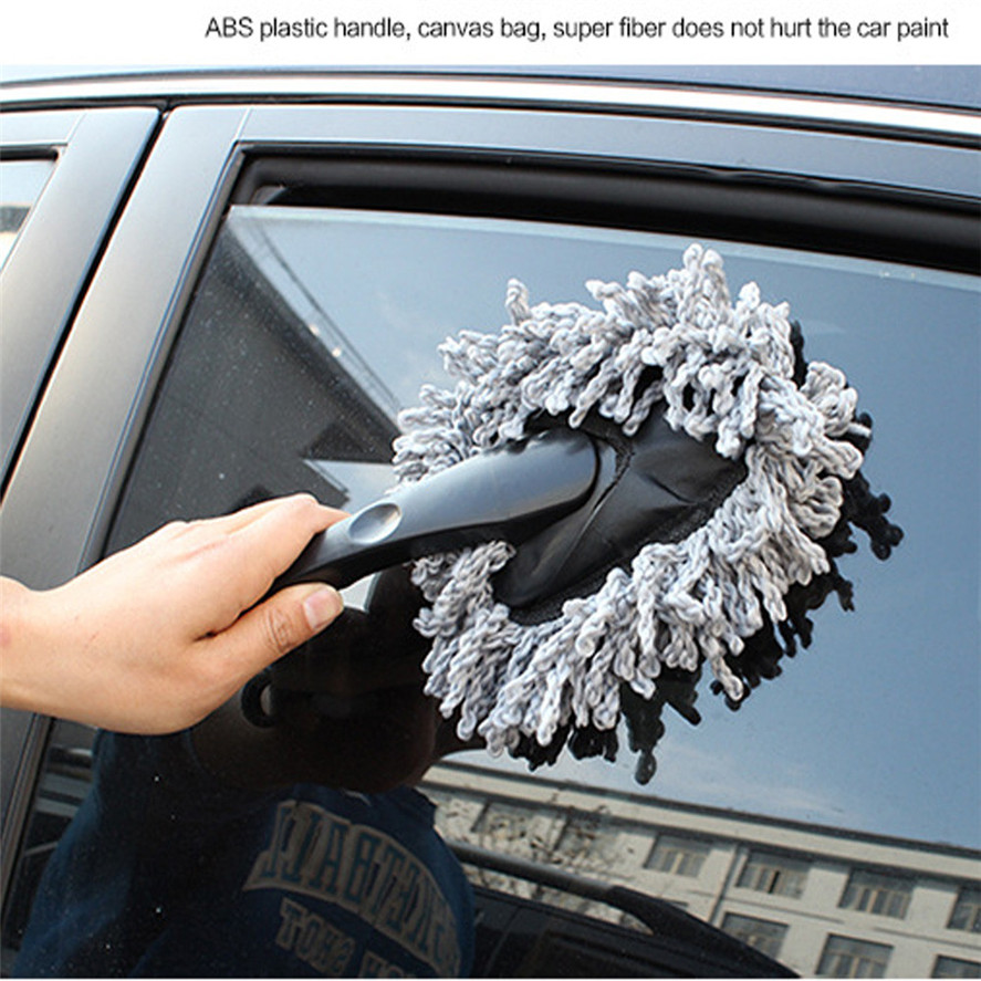 New 1PC Practical Super Soft Auto Dashboard Car Duster Polishing Washing Sponge Cleaning Pad Brush Car Duster Brush Tool