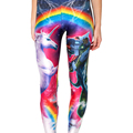 Spring Tenths adventure time punk rock Harajuku black milk push up fitness sexy 3d print Pegasus unicorn women leggings