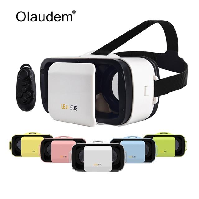 Newest VR Glasses LEJI VR Mini VR BOX III Virtual Reality 3D Glasses For  Smartphone + Bluetooth 3.0 Remote Controller VR120