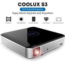 COOLUX S3 Pro DLP проектор для домашнего кинотеатра 1100 ANSI 1280x800 P Поддержка 4K 2,4/5 ГГц Wi-Fi Bluetooth 4,0 кино