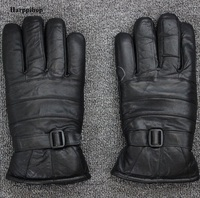 2017 herbst und winter herren-leder-handschuhe extrem dicke warme wolle fur mittens motorrad-batterie auto reithandschuhe männer