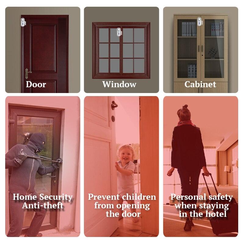 KERUI juhtmeta ukse- / akende sissesõiduturbe signalisatsioon - Turvalisus ja kaitse - Foto 5