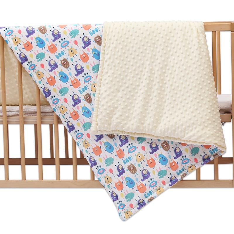 Polar Dot Flannel Baby Blanket Infant Cartoon Unicorn Swaddle Wrap Blankets Newborn Bedding Stroller Cover Kids