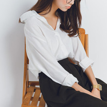 Duterena White Shirt Women 2019 New Casual Blouse Work Wear Button Up Turn Down Collar Long Sleeve Sexy Top Shirt Office Lady 2019 office lady turn down collar button striped up long shirt dress women new fashion summer long sleeve pink ol work dresses