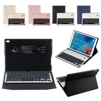 Ultra Thin Aluminum Alloy Wireless Blutooth Keyboards Case W Colorful Blacklit Black Light For IPad Pro