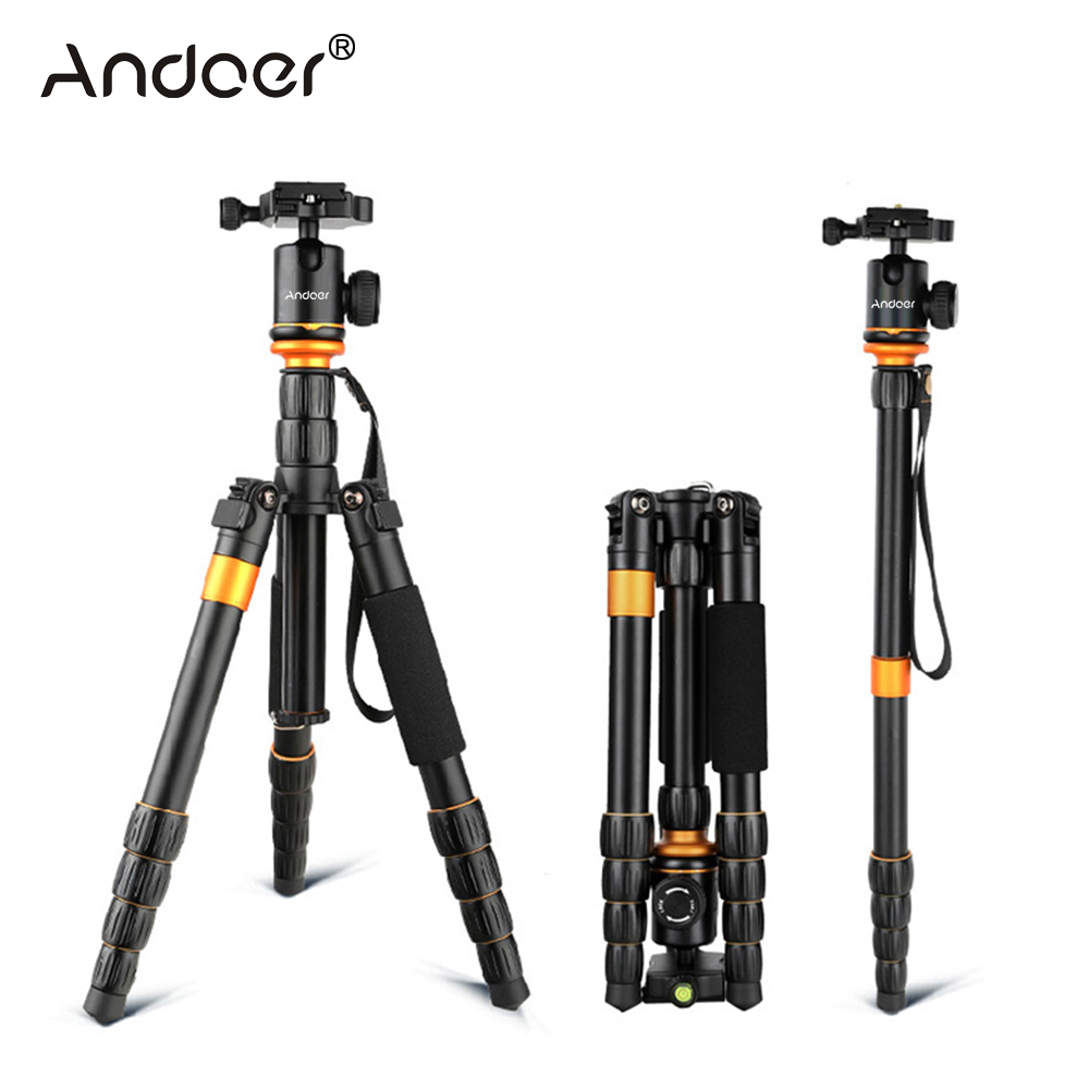 Andoer QZ-278 Professional Tripod Monopod Camera Tripod With Ball Head For Canon Nikon Sony DSLR Better Than Q999s Q666 Pro
