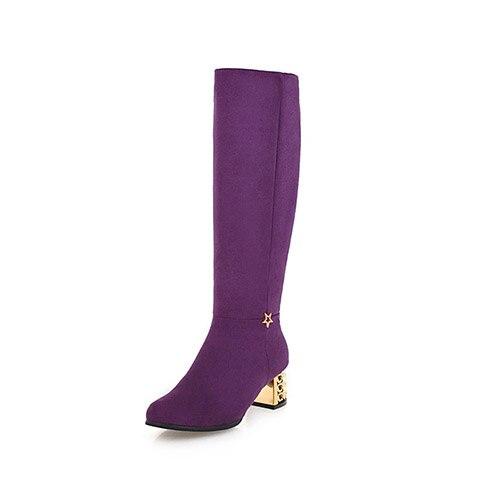 Preiswert Kaufen Nemaone 2019 Neue Super High Heels Frauen Stiefel Sexy Kniehohe Stiefel Frau Schwarz Lila Schuhe Frau Große Größe 42 43 Herrenschuhe