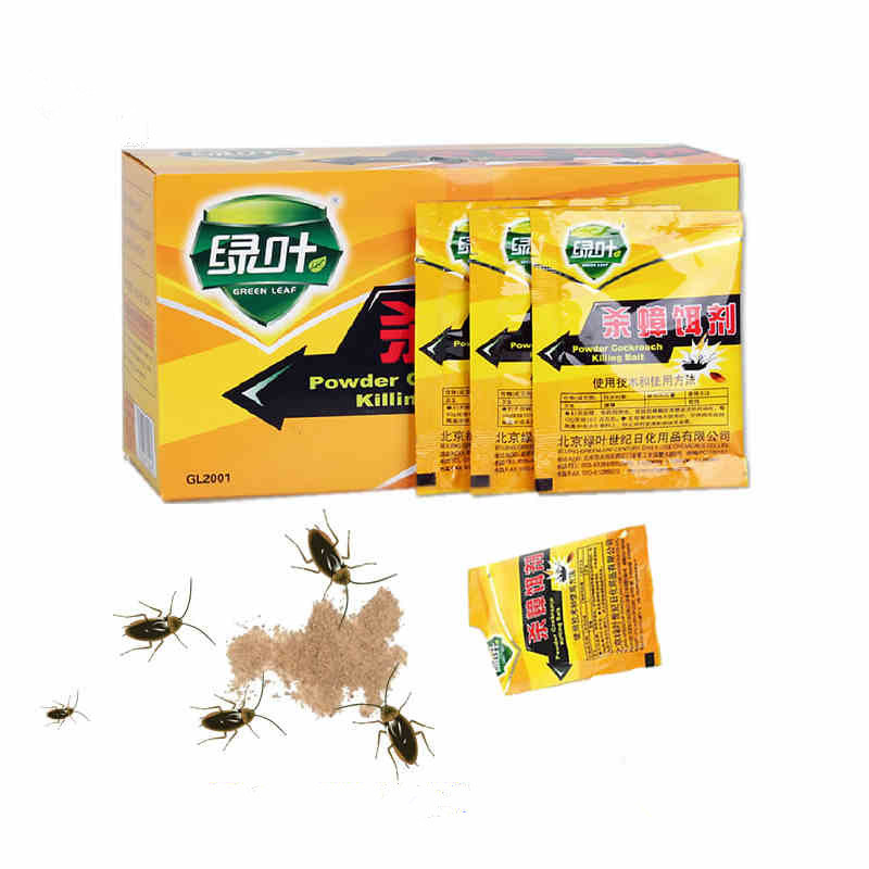 5pcs Powerful  Effective Killing Bait Cockroach Control Cockroach Killer Repellent Powder For Kitchen Pest Control Traps /Medic