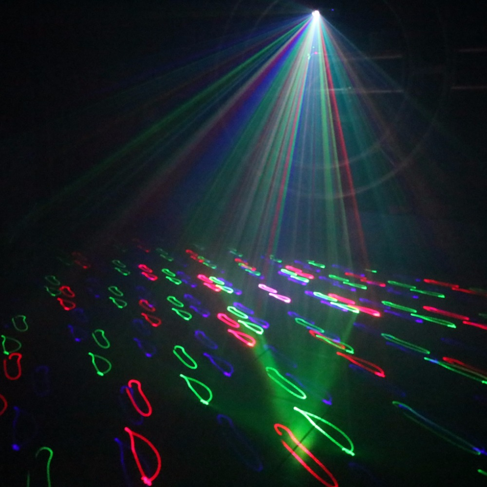 AUCD 5 In 1 RGB 3D Network Laser Program Source DMX Projector Stage ...