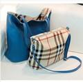 2015 novas mulheres da moda de todos os jogo xadrez reversível bolsa de um ombro saco do mensageiro sacos de PU de couro combinado RJ698