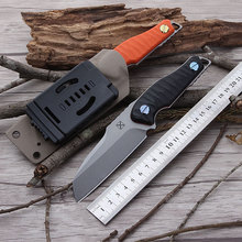 G10 Handle Pocket Knife With TI-6AI-4V Blade YX-2001 Fixed Blade TC4 Knife Tactics Gift Knife Camping Hunting Survival Knife