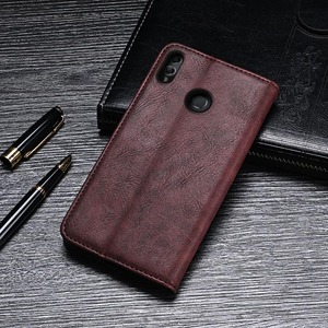 Image 2 - Case For Honor 8X Max Case Cover Hight Quality Retro Flip Leather Case For Huawei Honor 8X Max Cover Business Phone Case