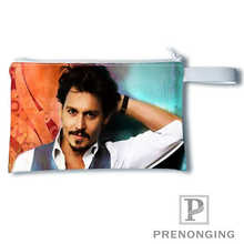 Custom johnny depp@ Printing Coin Purse Change Purse Zipper Zero Wallet Phone Key Bags Fashion Small Female Purse#19-01-22-6-277(China)