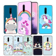 Unicorn On Rainbow Jetpack Soft Black Silicone Case Cover for OnePlus 6 6T 7 Pro 5G Ultra-thin TPU Phone Back Protective