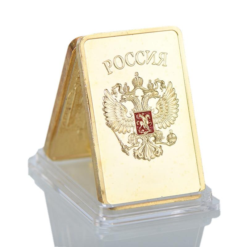 Palsu 999 Gold Bar 24 K Gold Plated Bahasa Jerman Emas Batangan Besi
