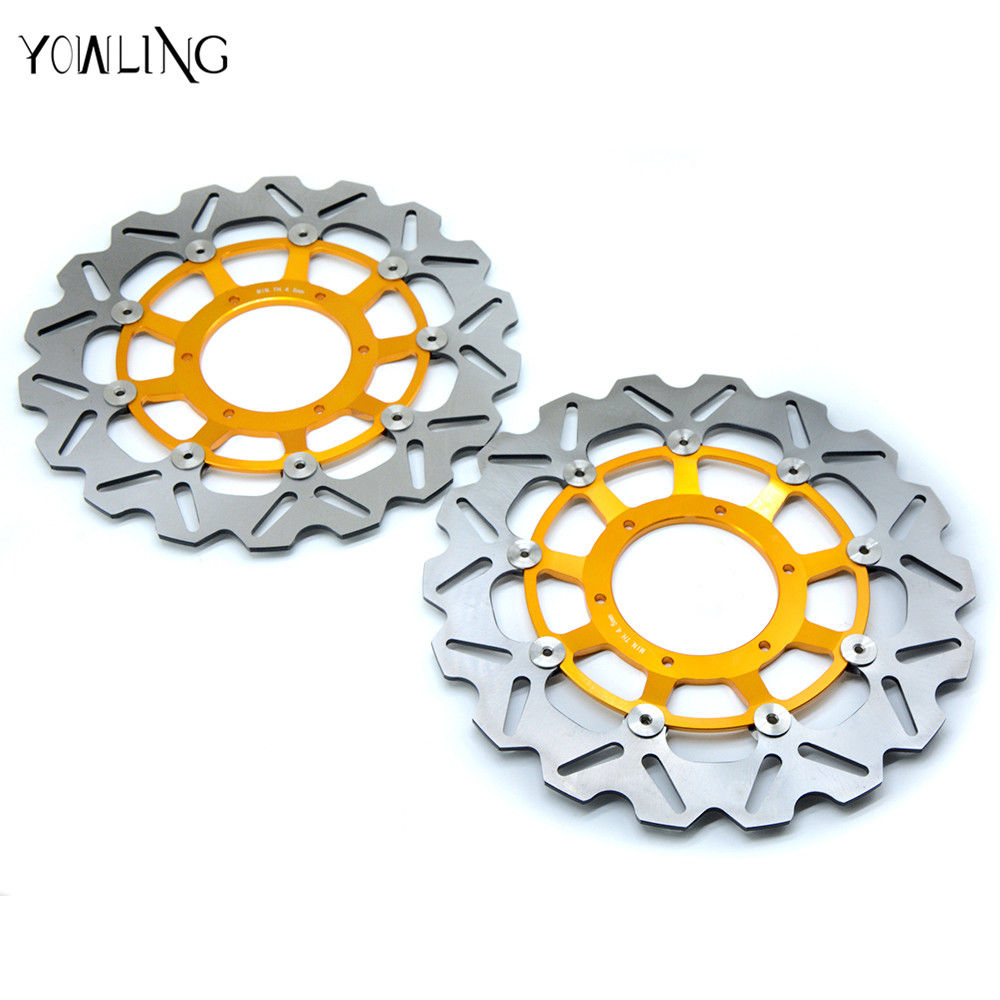 motorcycle parts Aluminum alloy inner ring & Stainless steel outer ring Front Brake Disc Rotor For Honda CBR1000RR 2004-2005 motorcycle aluminum alloy