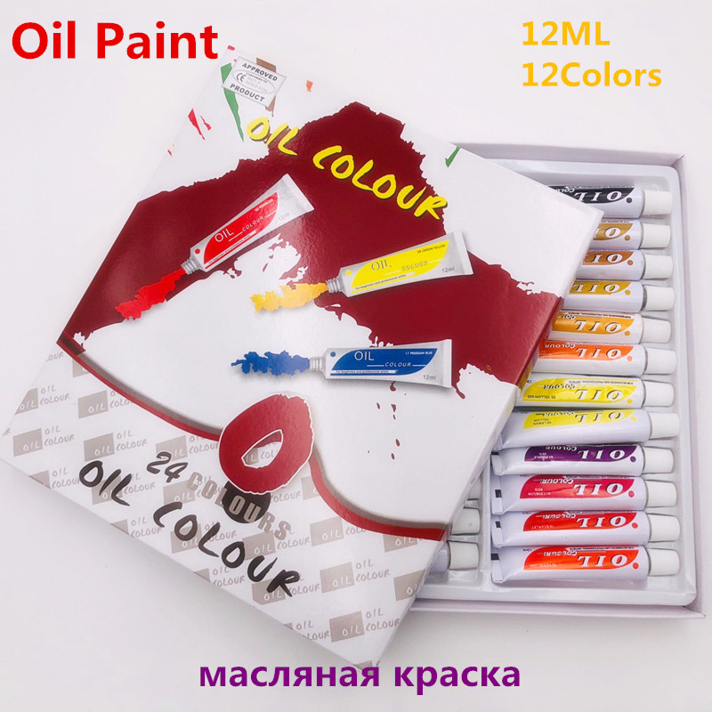 24pcs Professional Tube Oil Paints Art For Artists Canvas Pigment Art Supplies Drawing 12ML 24Colours For Kids DIY24pcs Professional Tube Oil Paints Art For Artists Canvas Pigment Art Supplies Drawing 12ML 24Colours For Kids DIY