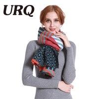 [URQ]ใหม่สไตล์โบฮีเมียนผ้าพันคอพิมพ์ดิจิตอลอบอุ่นนุ่มฤดูหนาวยาวผ้าพันคอผู้หญิงAcylicห่อผ้าคล...