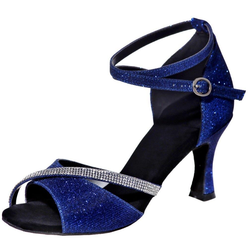 Chaussures latines style chaud communication chaussures de danse dames banquet haut talon purement manuel chaussures de danse en gros