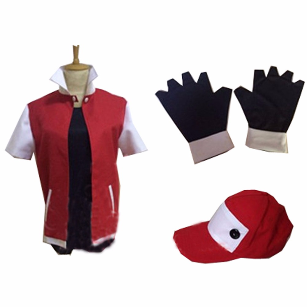 2017 Anime Pocket Monster Trainer Red Cosplay Costume