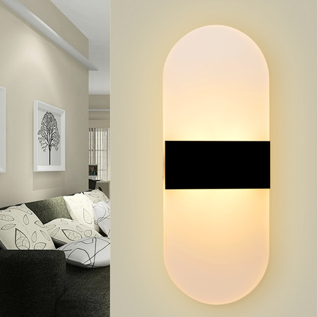 6 Watt Moderne Schlafzimmer Wandleuchten Applique Bad Wandlampen Hause  Beleuchtung Led Streifen Wand Leuchten Acryl