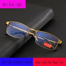 2d0a05a38f Las nuevas mujeres Anti-Blu-ray inteligente progresiva gafas de lectura  hombres Multifocal Progresiva gafas lejos vista dioptría.