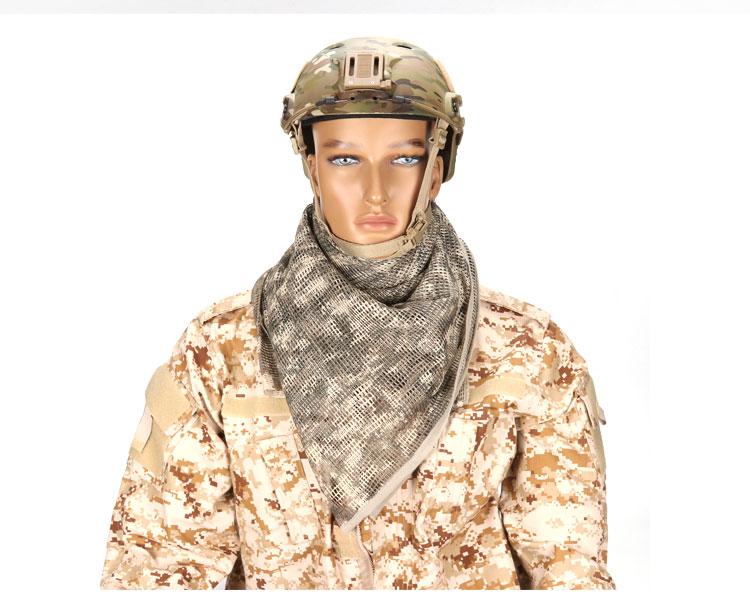 malha cachecol sniper rosto cachecol véu acampamento