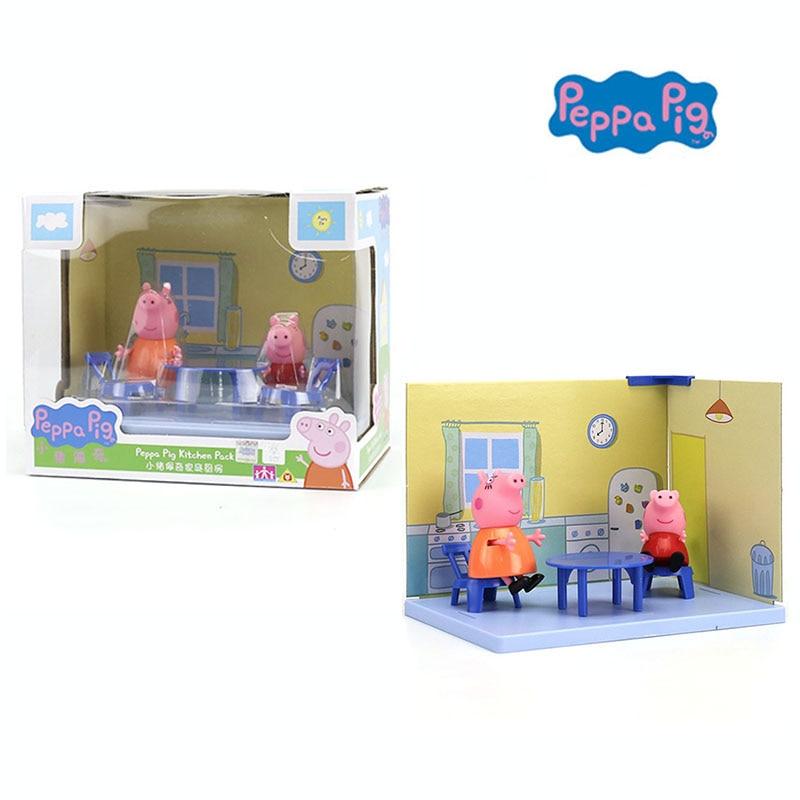 pig kitchen sink rug genuine peppa 2018 hot pack with george mummy figure kids toy children s birthday christmas gift