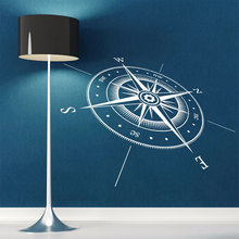 Compass Wall Sticker Nautical Compass North South East West Points Wall Decal Vinyl Wall Art Mural Muurstickers Decoration A429 цена