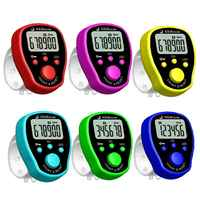 5 Channel Finger Counter LCD Electronic Digital Chanting Counters Tally Counter Drop ShiP