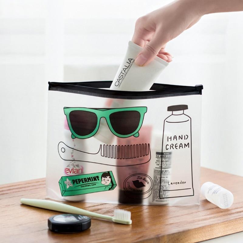 Cartoon Cool Sunglasses Girl Transparent PVC File Bag File Folder Documents Filling Bag Office School Suppllies Stationery Bag