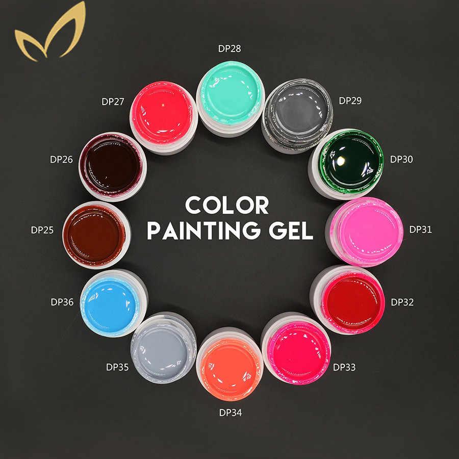 Soak off paint гель для ногтей Золотая Серебряная белая блесточка цвет твердый светодиодный/УФ гель для дизайна ногтей Краска Цвет лак для ногтей 36 цветов Monasi
