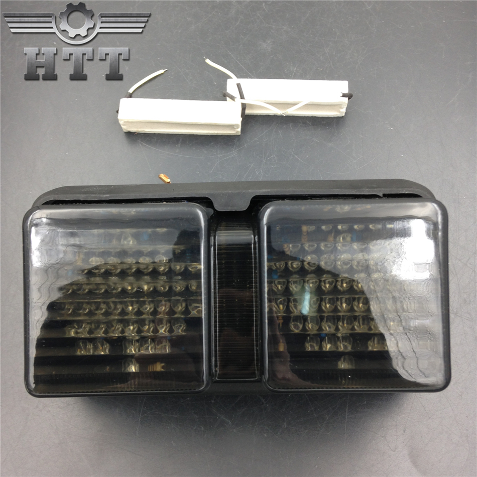 Aftermarket free shipping motorcycle parts LED Tail Brake Light Turn Signals for Honda 2000 2001 2002-2006 RC51 RVT1000R SMOKE aftermarket free shipping motorcycle parts eliminator tidy tail for 2006 2007 2008 fz6 fazer 2007 2008b lack