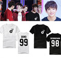 2016 estrella Coreana kpop DIECISIETE 17 T-shirt negro de manga corta blanca ropa de diecisiete k-pop estilo verano 17 adolescentes camiseta