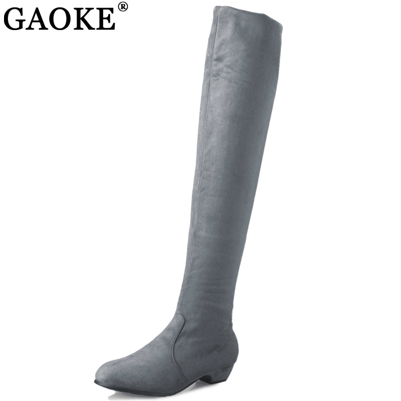 GAOKE Woman S High Boots Shoes Fashion Women Over The Knee High Boots Autumn Winter Bota