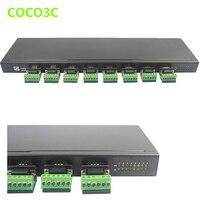 USB 2.0 до 8 Порты и разъёмы DB9 Splitter Box последовательный Порты и разъёмы множитель концентратора RS 232 422 485 адаптер конвертер для ПЛК приборная пан