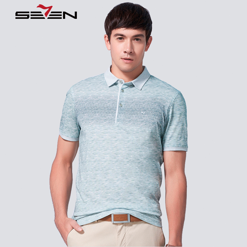 Seven7 brand summer men polo shirt short sleeve cotton for Business casual polo shirt