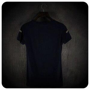 Image 2 - Yüksek kalite erkekler moda çapraz pullu kısa kollu t gömlek gece kulübü sahne kostüm erkek şarkıcı hip hop punk tees tops streetwear