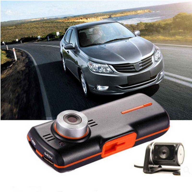 A1 Car DVR Allwinner Dual Camera Car Black Box DVR Camera FullHD 1080P Dash Cam with GPS logger 2.7 inch LCD Screen Night vision цены