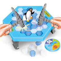 Family Funny Penguin Trap Game Interactive Ice Breaking Table For Children Activate Penguin Trap Entertainment Kids