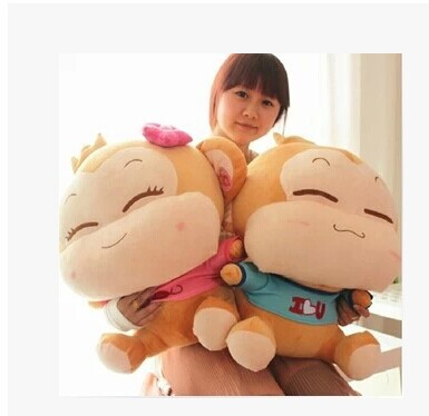 large 60cm lovely monkey plush toy loves yoyo and cici monkeys dolls one pair 2 pieces toys throw pillow gift w6303 70cm lovely monkey plush toy cici monkey doll throw pillow birthday gift w6290