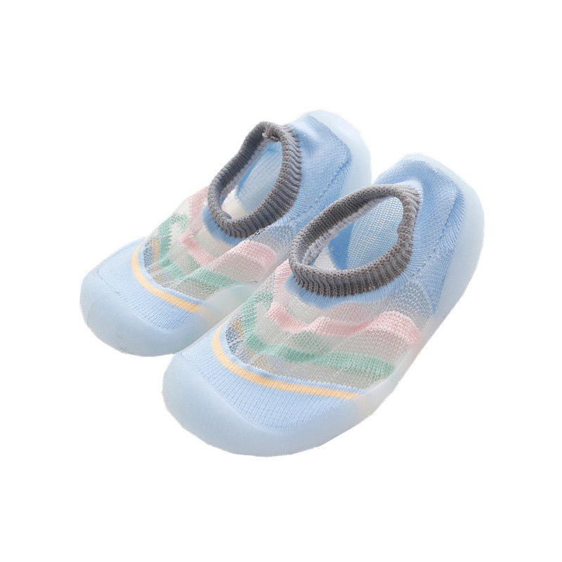 Eabxz Infant Shoes Moccasins-Bottom First-Walkersthin Non-Slippery Baby Floor-Sock Mesh-Eye