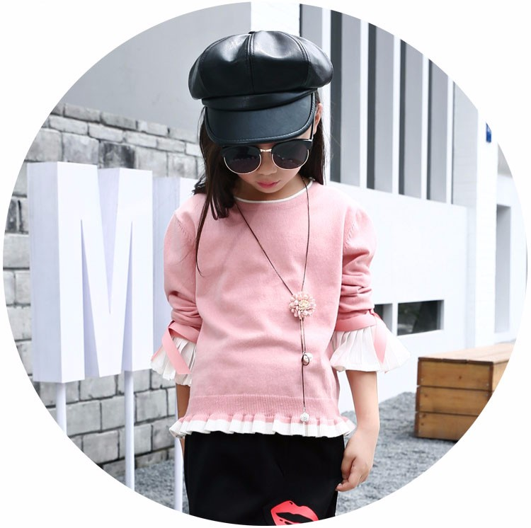 knitting little teenage girls clothes suits autumn 2016 children clothing set for girl pink blue knit sweater tops long sleeve black skirts clothes set 2016 6 7 8 9 10 11 12 13 14 15 16 years old big girl 2 pcs clothing sets (3)