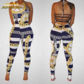 Adogirl Women Fitted Style Sexy Jumpsuit Bandage Bodycon Jumpsuit Streetwear Printed Overalls European rompers women jumpsuits