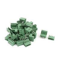 20 Pair 4 Pins 5 08mm Pitch Male Female PCB Screw Terminal Block Connectors